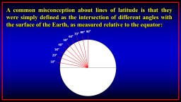 A common misconception about lines of latitude is that they were simply defined as the intersection