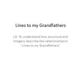 Lines to my Grandfathers