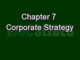 Chapter 7 Corporate Strategy