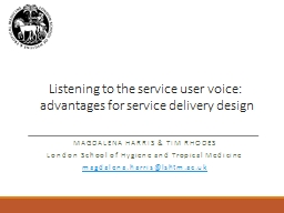 Listening to the service user voice: