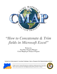 TM How to Concatenate  Trim fields in Microsoft Excel
