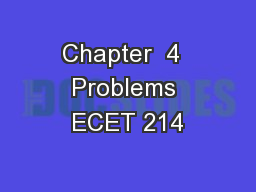 Chapter  4  Problems ECET 214
