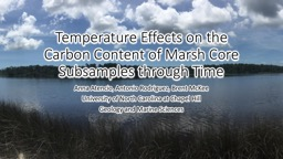 Temperature Effects on the Carbon Content of Marsh Core Subsamples through Time