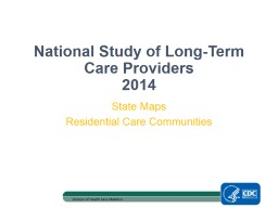 National Study  of Long-Term Care Providers