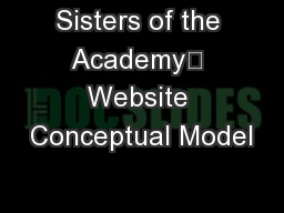Sisters of the Academy Website Conceptual Model