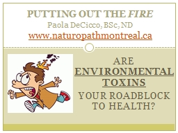 Are  Environmental Toxins