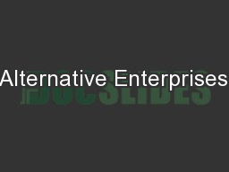 Alternative Enterprises;