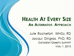 Health At Every  Size  An Alternative Approach