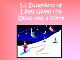 Find  Slope and Y Intercept from PowerPoint PPT Presentation