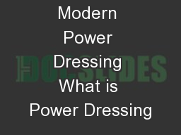 Modern Power Dressing What is Power Dressing