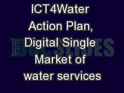 ICT4Water Action Plan, Digital Single Market of water services