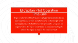 El Capitan Pilot Operation