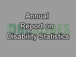 Annual Report on Disability Statistics