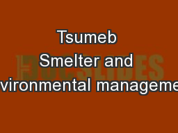 Tsumeb Smelter and Environmental management