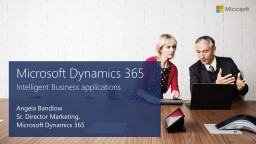Microsoft Dynamics 365 Intelligent Business applications