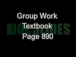 Group Work Textbook Page 890