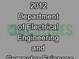 October 14, 2012 Department of Electrical Engineering and Computer Sciences