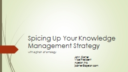 Spicing Up Your Knowledge Management Strategy