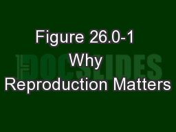 Figure 26.0-1 Why Reproduction Matters
