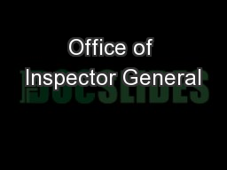 Office of Inspector General PowerPoint PPT Presentation