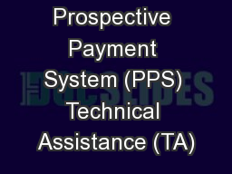 CCBHC Prospective Payment System (PPS) Technical Assistance (TA)