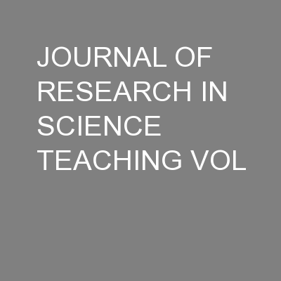 JOURNAL OF RESEARCH IN SCIENCE TEACHING VOL