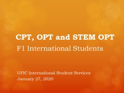CPT,  OPT  and  STEM OPT
