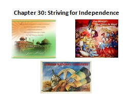 Chapter  30:  Striving for Independence