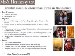 Bubble Bash & Christmas Stroll in Nantucket