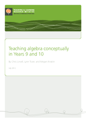 Teaching algebra conceptually in Years  and  By Chris