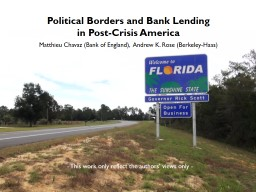 Political Borders and Bank