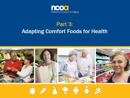 Part 3: Adapting Comfort Foods for Health
