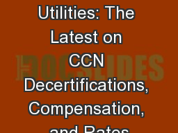 Water Utilities: The Latest on CCN Decertifications, Compensation, and Rates