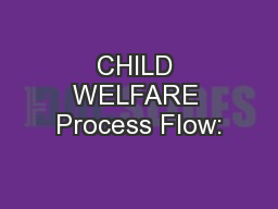 CHILD WELFARE Process Flow: