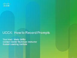 UCCX:  How to Record Prompts