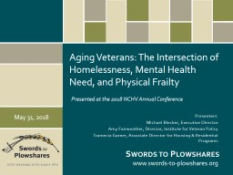 Aging Veterans: The Intersection of Homelessness, Mental Health Need, and Physical Frailty