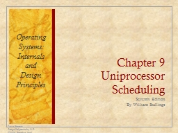 Chapter 9 Uniprocessor Scheduling