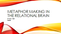 Metaphor Making in the Relational Brain