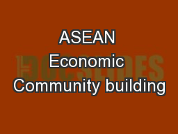ASEAN Economic Community building