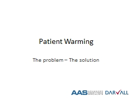 Patient Warming The problem – The solution