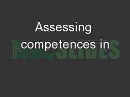 Assessing competences in