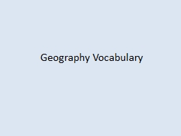 Geography Vocabulary Mountain