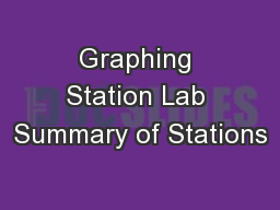 Graphing Station Lab Summary of Stations