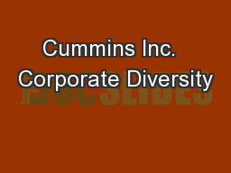 Cummins Inc.  Corporate Diversity
