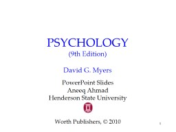 1 PSYCHOLOGY (9th Edition)