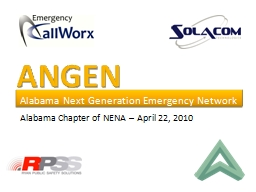 ANGEN Alabama Next Generation Emergency Network
