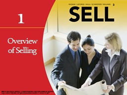 Overview  of Selling Learning Objectives