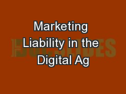 Marketing Liability in the Digital Ag
