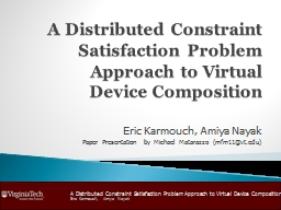 A Distributed Constraint Satisfaction Problem Approach to Virtual Device Composition