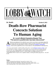 Dr Death October   Death Row Pharmacist Concocts Solut